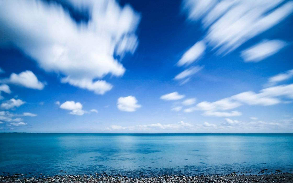 Ocean nature beach skyscapes wallpaper