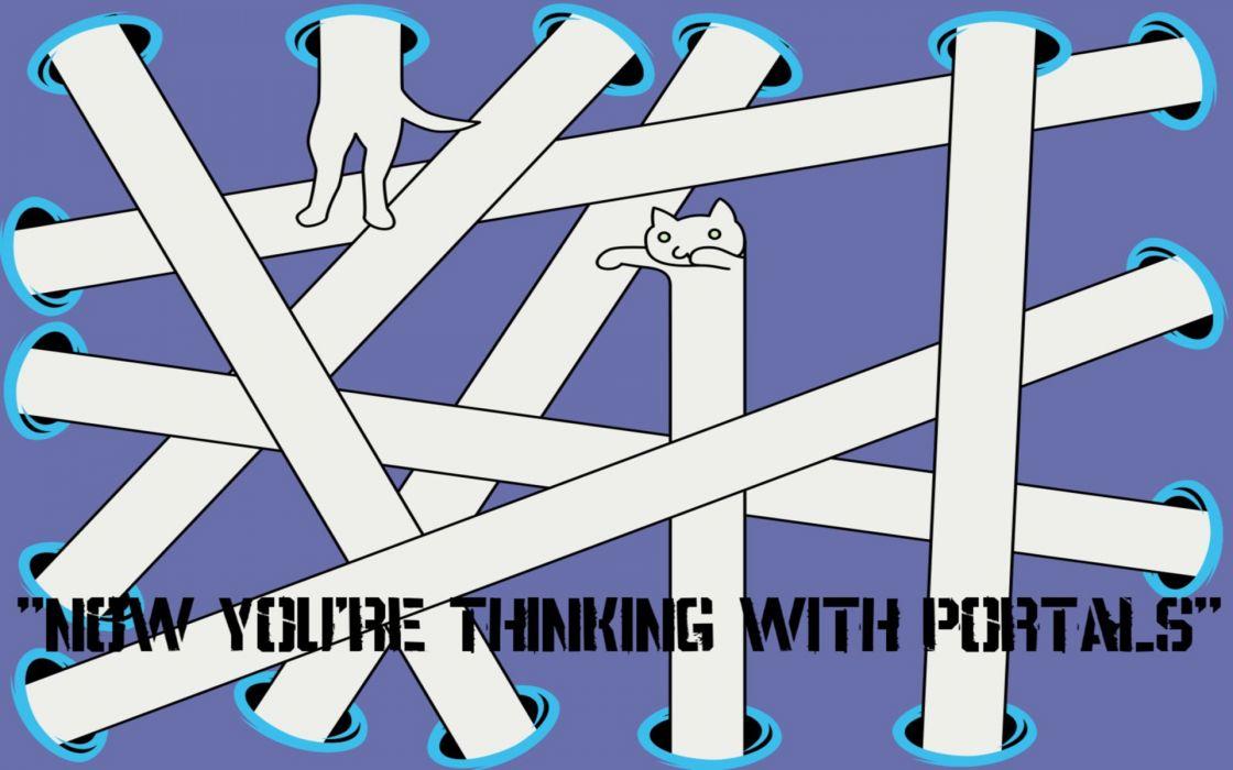 Portal longcat meme wallpaper