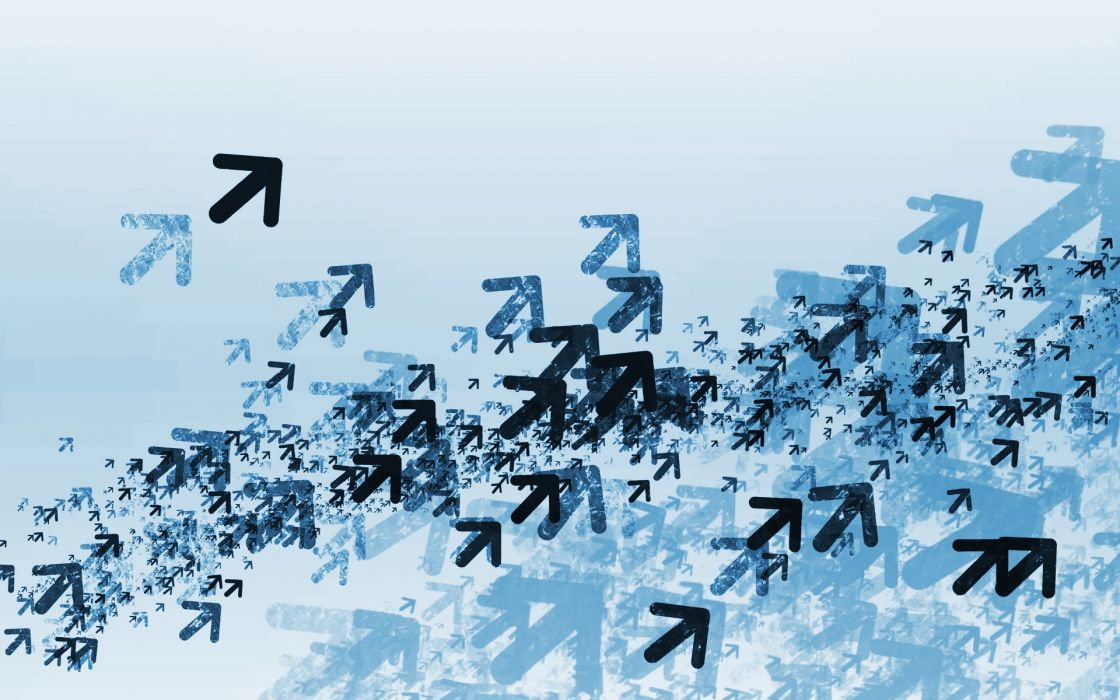 Blue flock vector wallpaper
