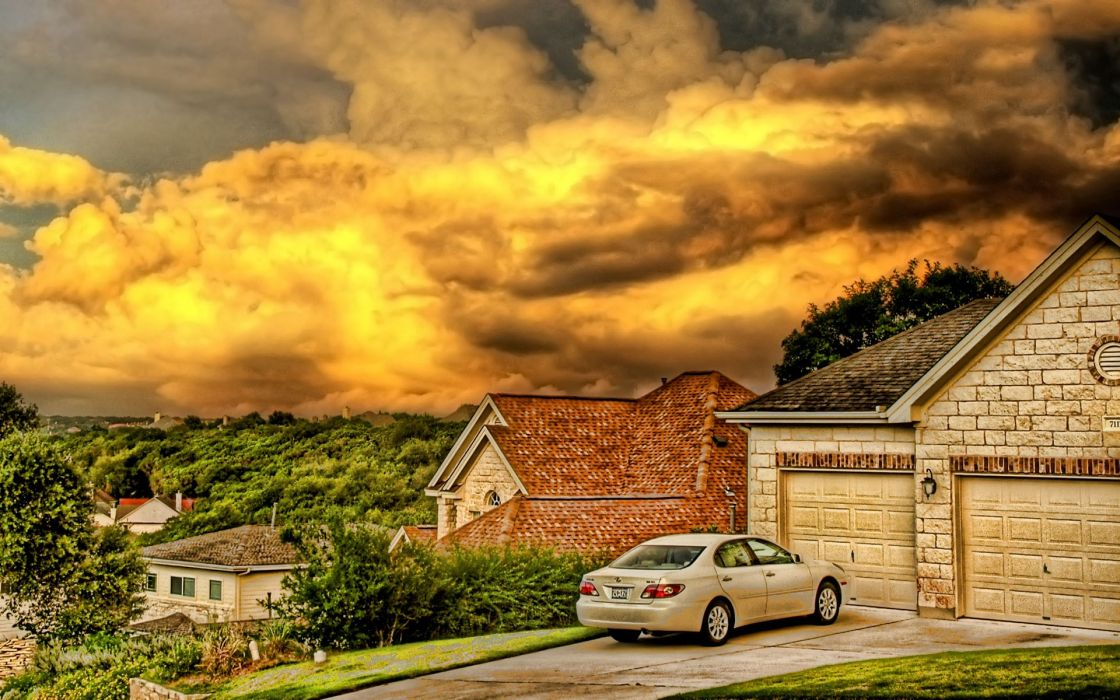 Skylines cars houses toyota vehicles hdr photography wallpaper