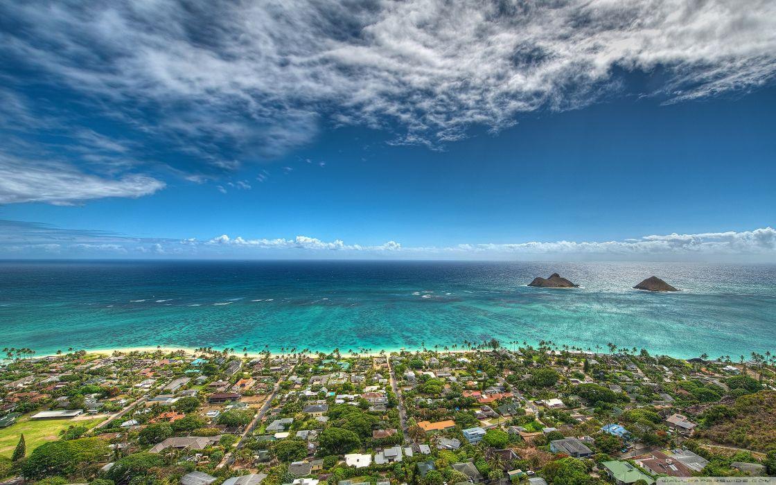 Beach Hawaii Aerial Wallpaper