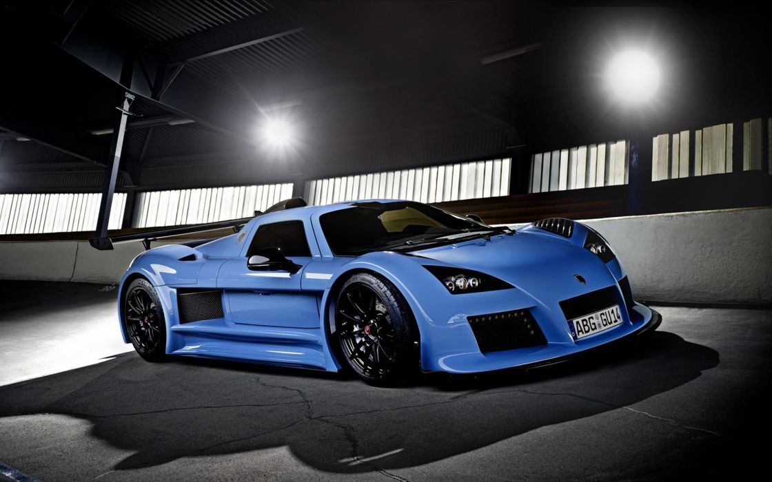 Blue futuristic cars drive vehicles tuning wheels gumpert apollo sport cars luxury sport cars speed wallpaper