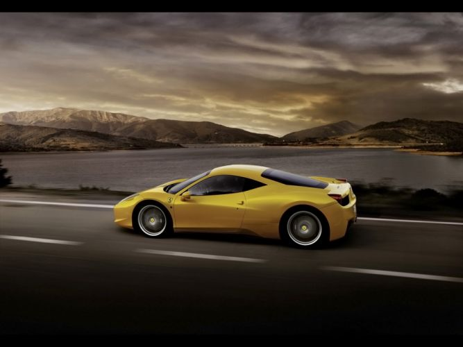 Yellow cars vehicles ferrari 458 italia yellow cars wallpaper