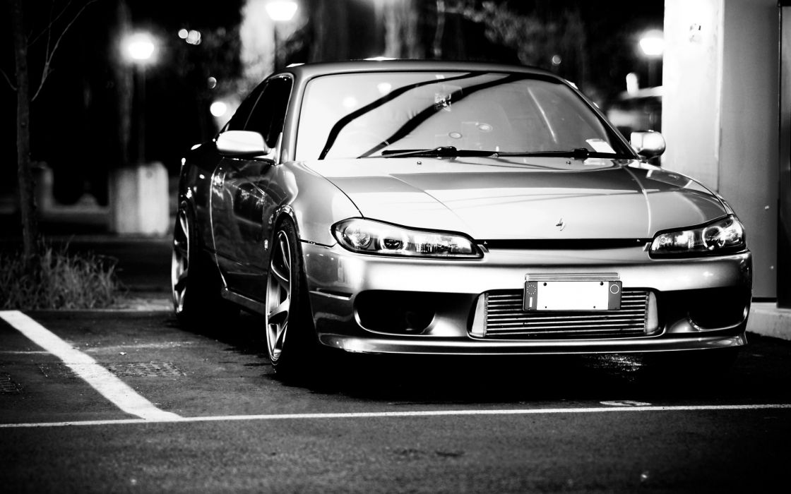 Cars monochrome nissan silvia s15 jdm wallpaper
