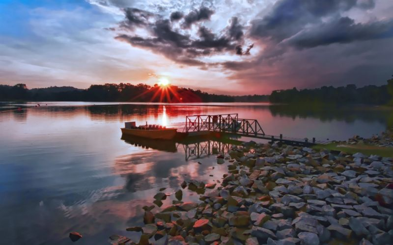 Clouds landscapes lakes skyscapes wallpaper