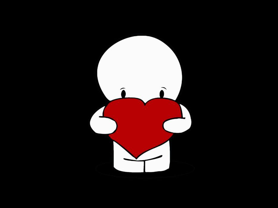 Minimalistic hearts wallpaper