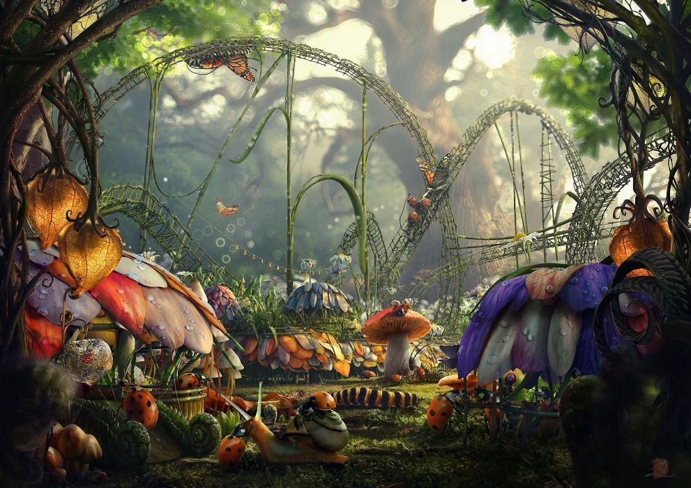 Nature fantasy art wallpaper