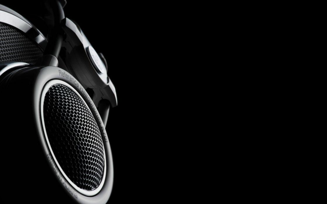 Headphones music black background akg wallpaper