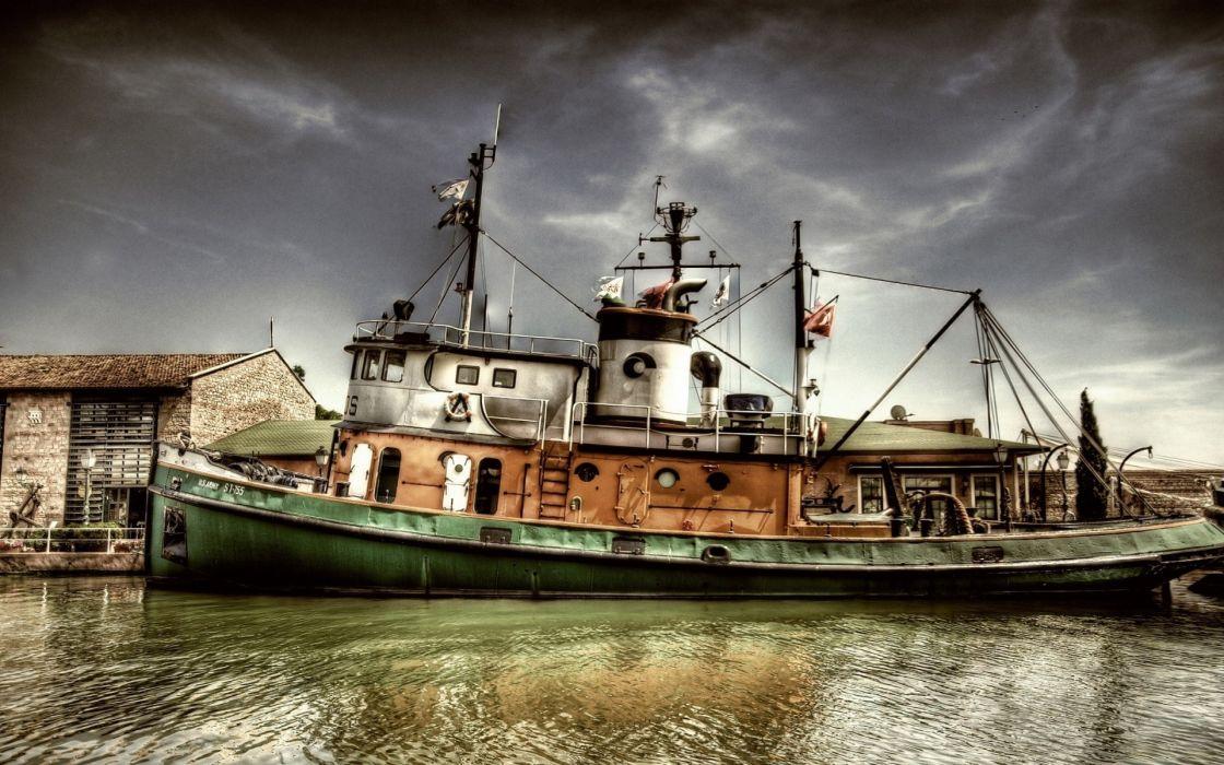 Ships boats vehicles hdr photography wallpaper
