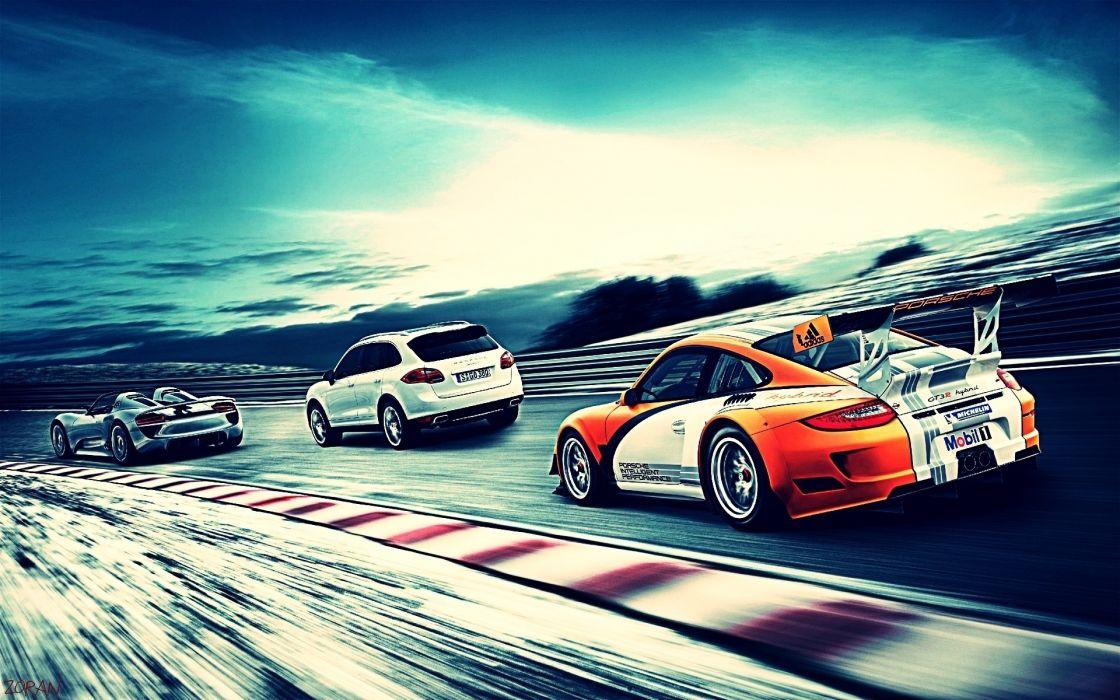 Cars supercars porsche 918 spyder races porsche 911 gt3 sports car wallpaper