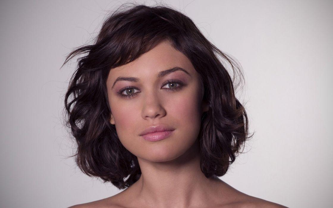 Brunettes women actress olga kurylenko faces wallpaper