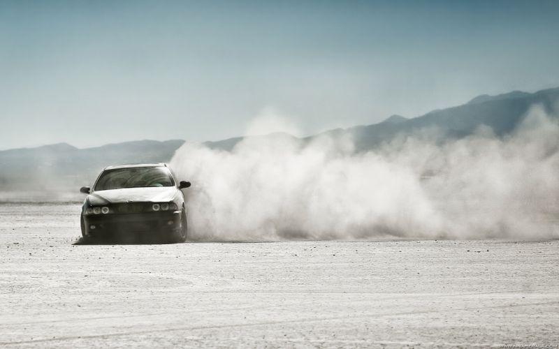 Cars desert dust wallpaper