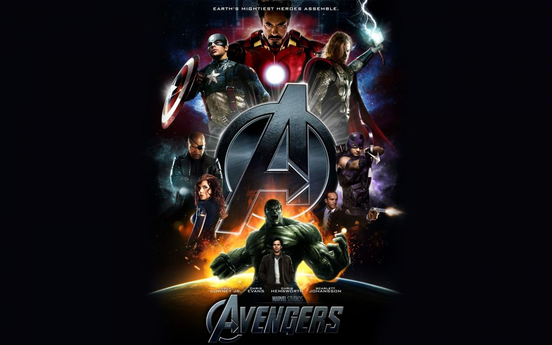Hulk (comic character) scarlett johansson iron man movies thor captain america black widow tony stark robert downey jr hawkeye chris evans nick fury bruce banner chris hemsworth jeremy renner mark ruffal wallpaper