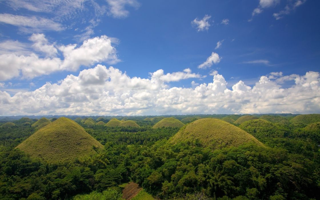 Landscapes hills philippines chocolate hills wallpaper