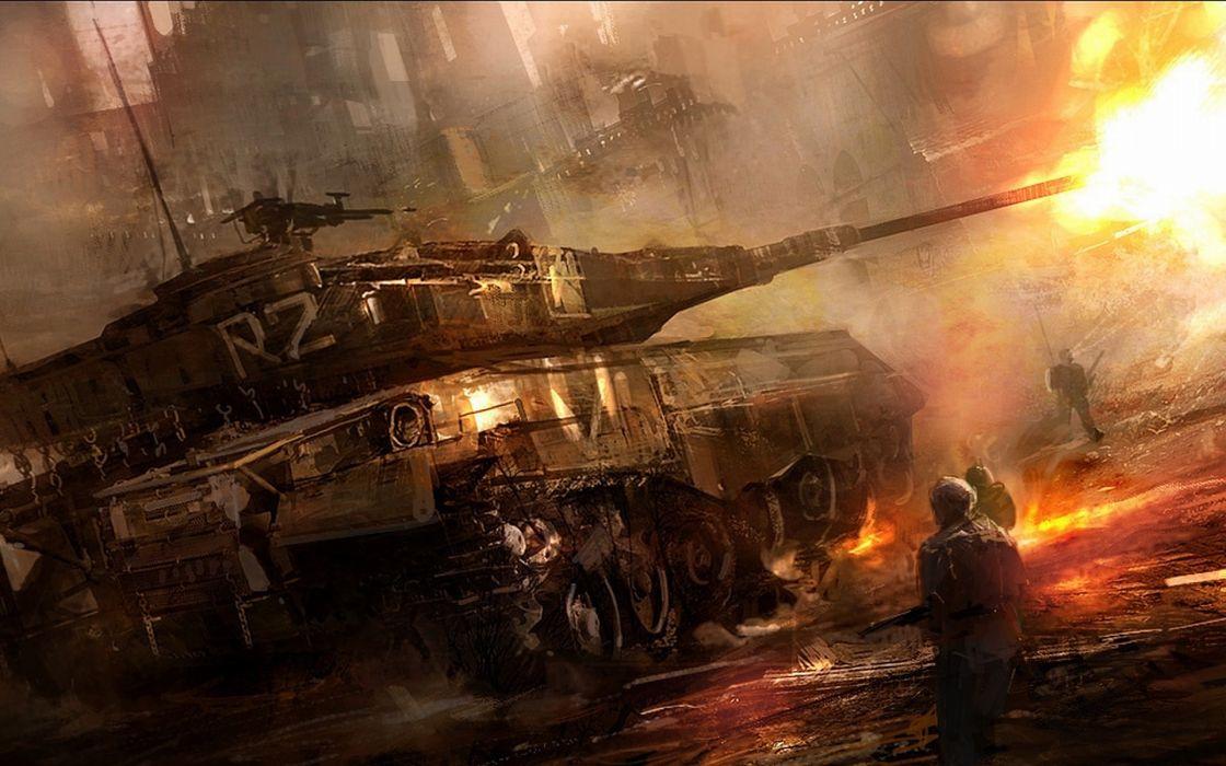 Soldiers war military men tanks wallpaper
