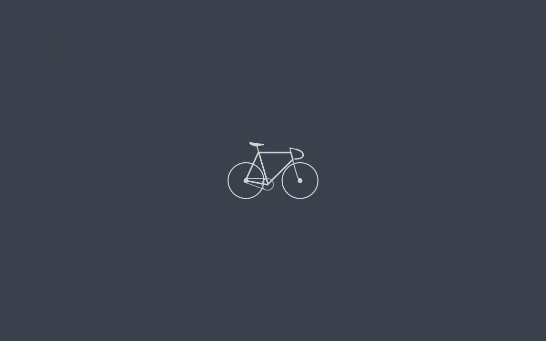 Minimalistic bicycles artwork simple wallpaper