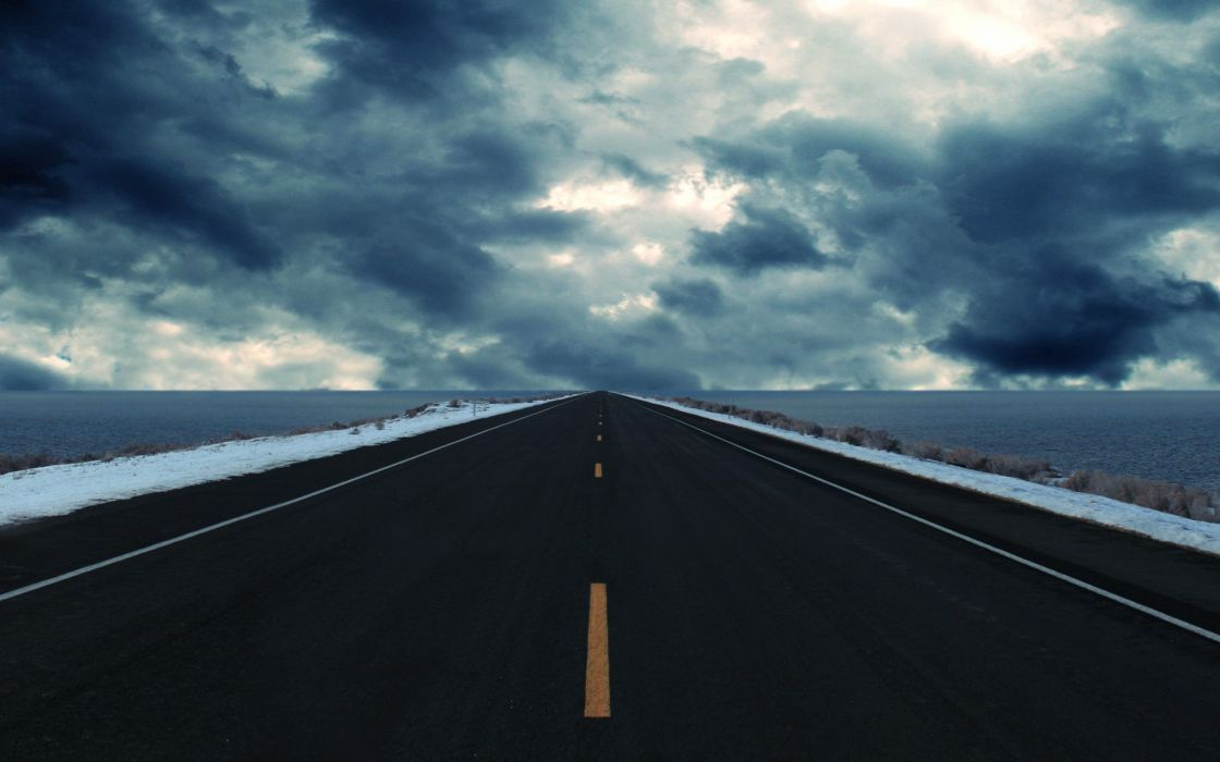 Abstract roads wallpaper