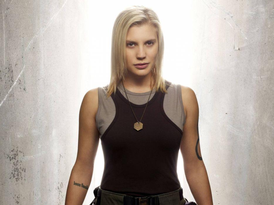 Women actress battlestar galactica katee sackhoff wallpaper
