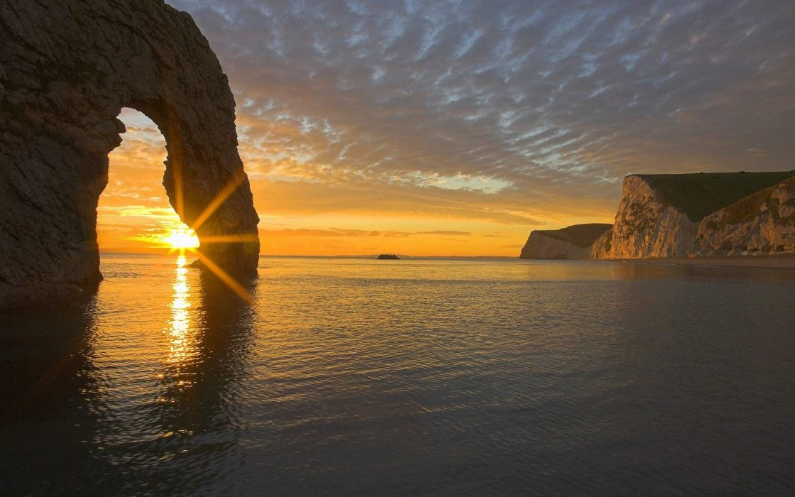 Nature sun seas wallpaper