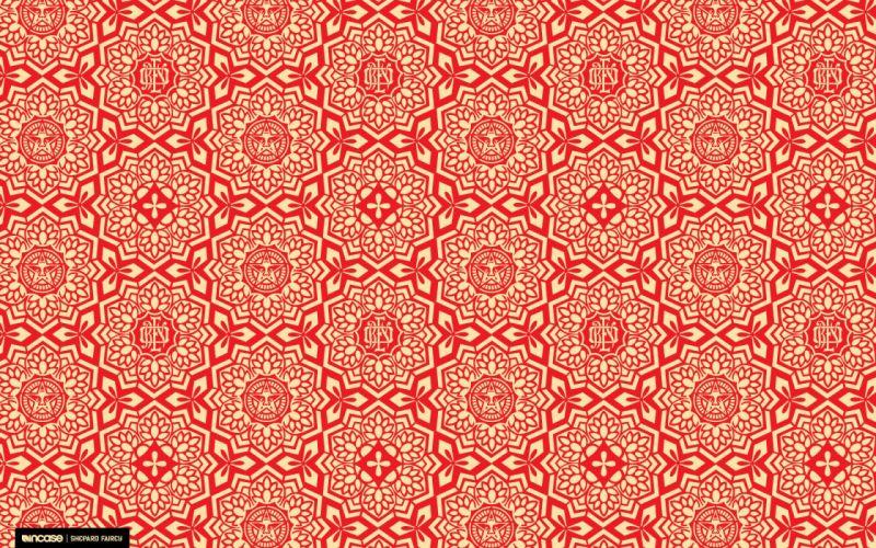 Red obey shepard fairey incase wallpaper