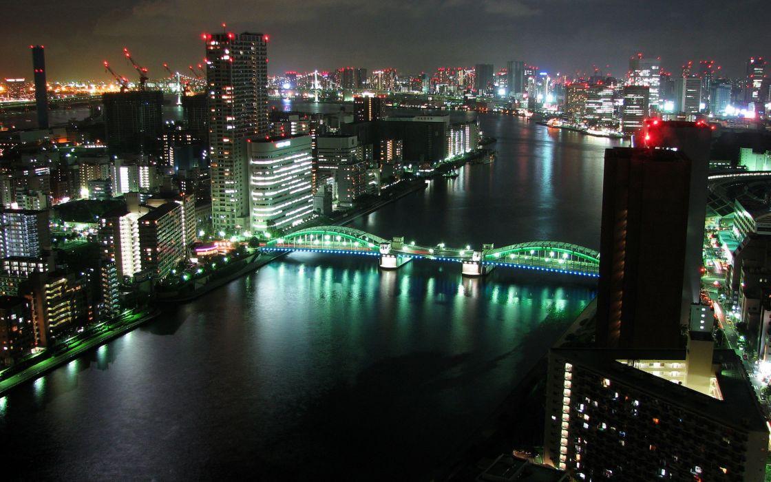 Tokyo cityscapes night wallpaper