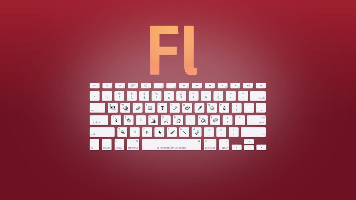 Adobe shortcuts wallpaper
