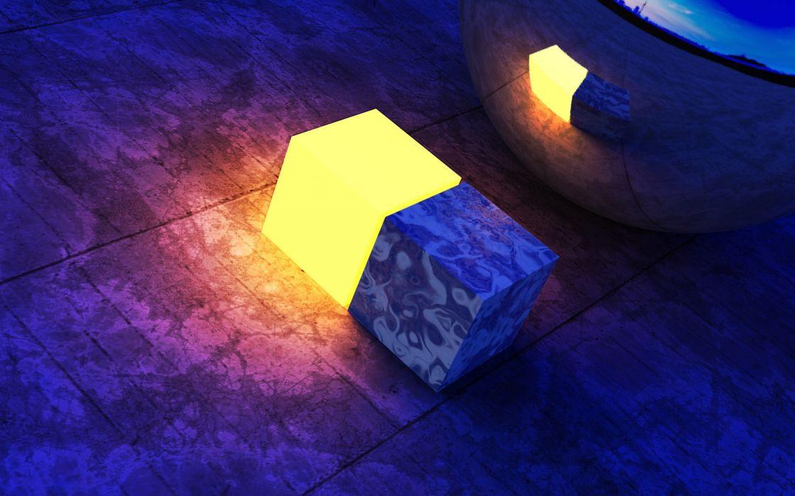 Light cubes wallpaper