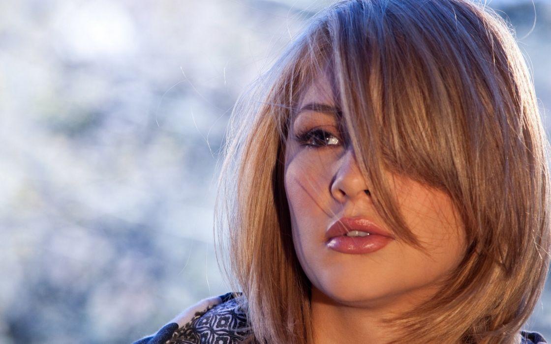 Blondes women models digital desire magazine dalia dayze striped clothing open jacket wallpaper