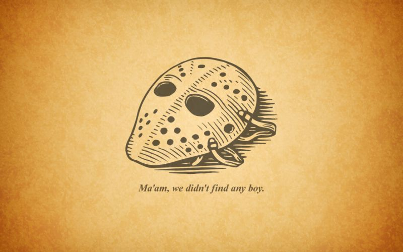 Texts jason masks jason voorhees wallpaper