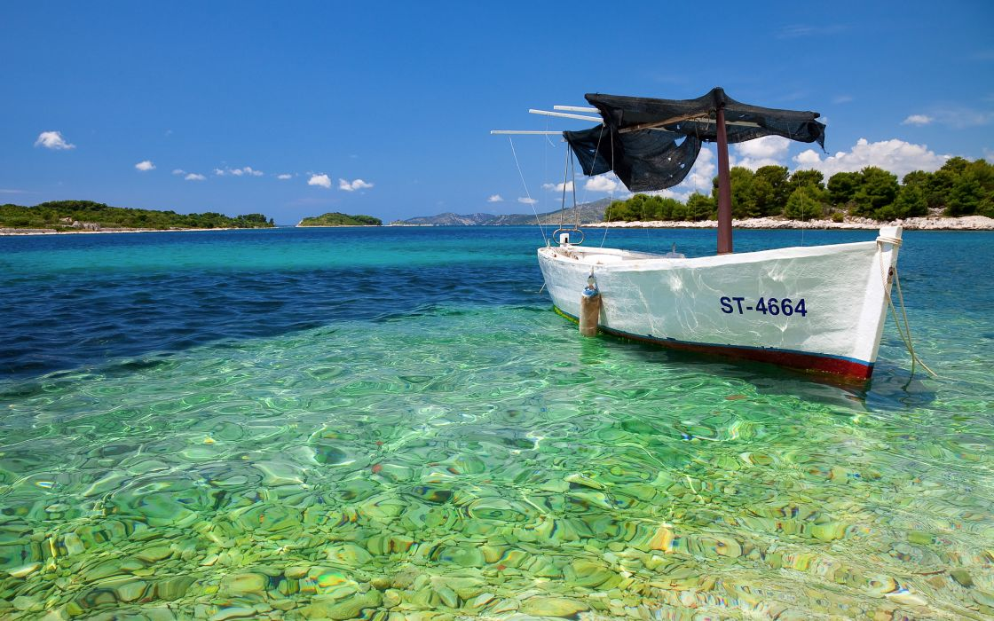 Seas ships tropical islands vehicles wallpaper