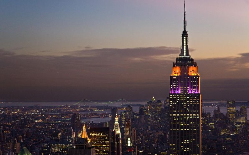 Cityscapes skylines skyscrapers empire state building wallpaper