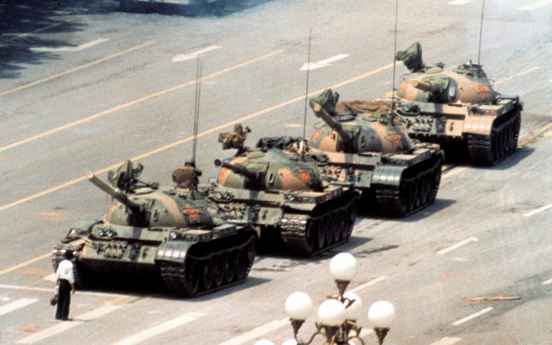 Communism heroes tanks tiananmen square wallpaper