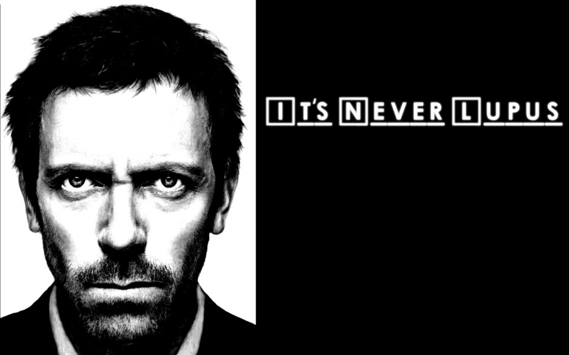 Funny doctor medical lupus grayscale gregory house house m_d wallpaper