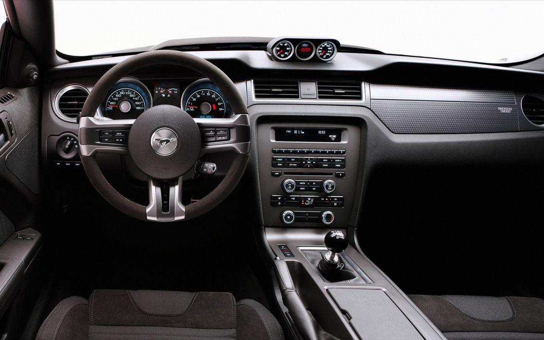 Vehicles ford mustang car interiors steering wheel wallpaper