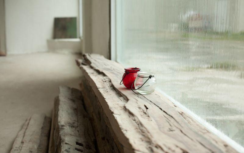 Rain indoors logs wallpaper