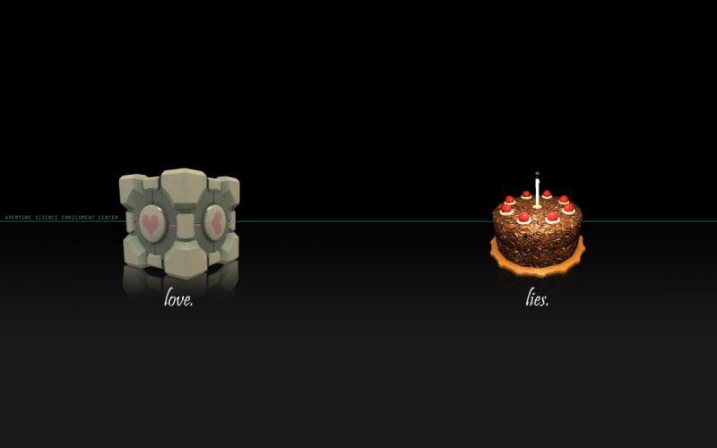 Video games portal cakes wallpaper