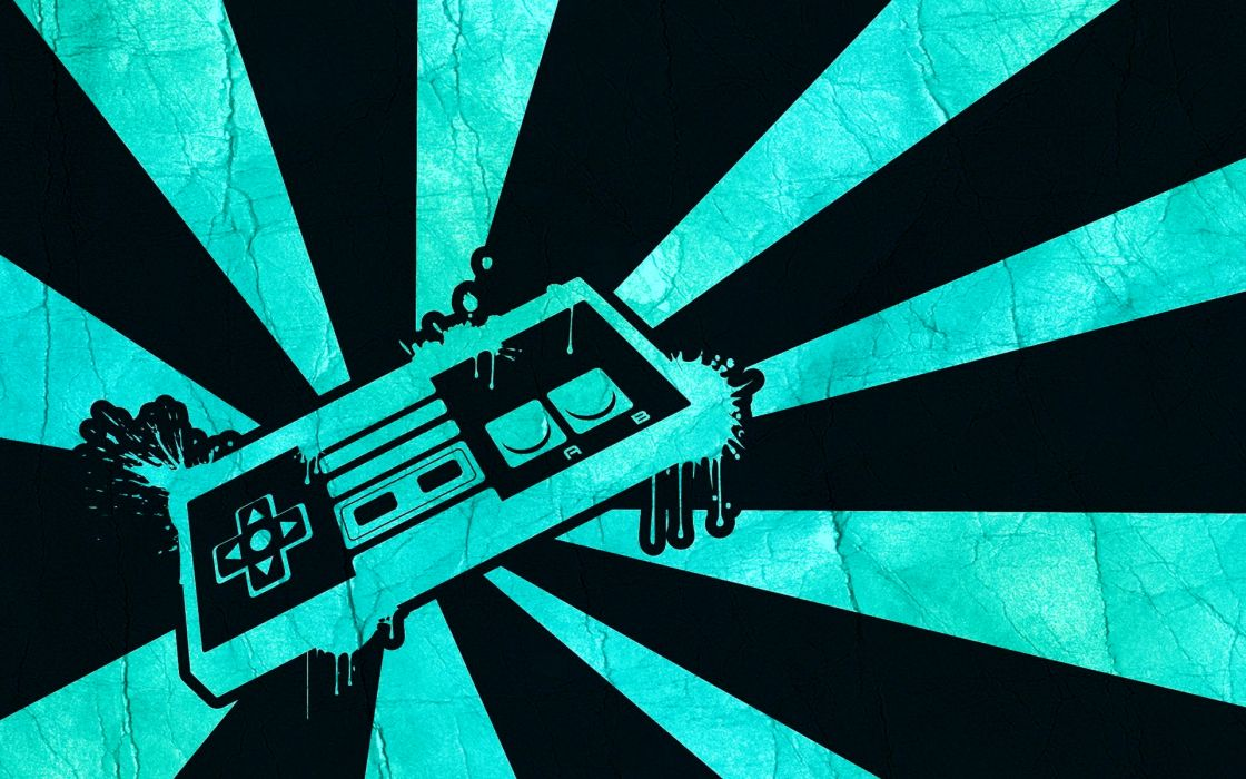 Nintendo nes game console system wallpaper