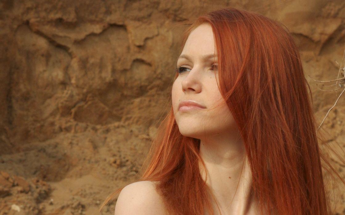 Women redheads lidiya a wallpaper