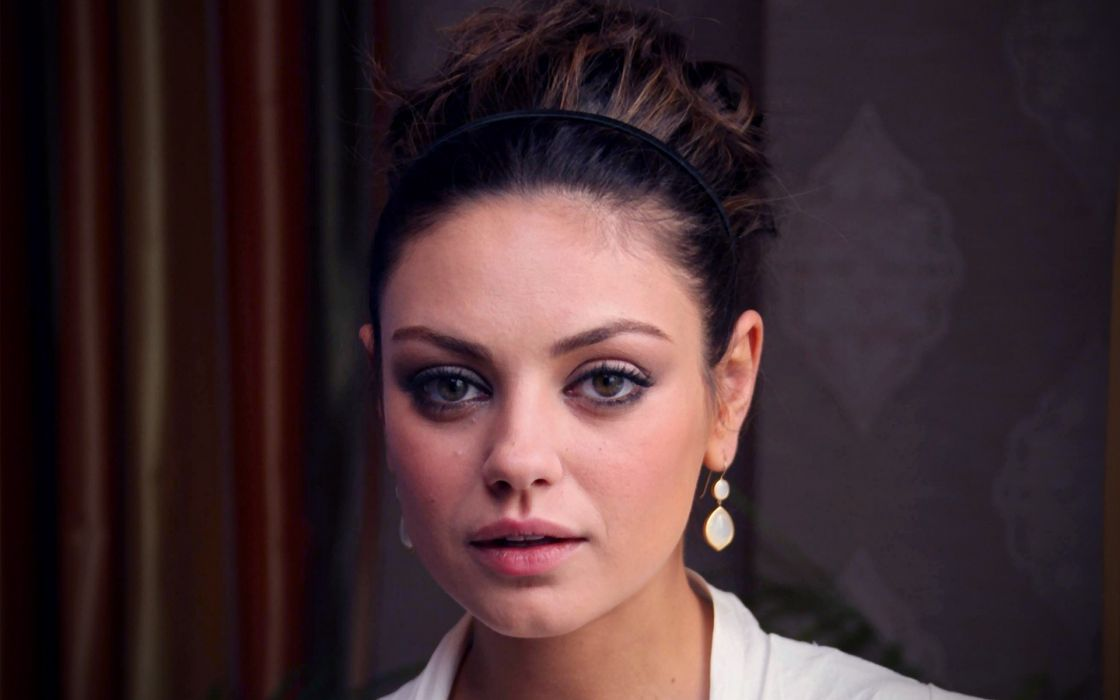 Brunettes women mila kunis actress headbands faces wallpaper