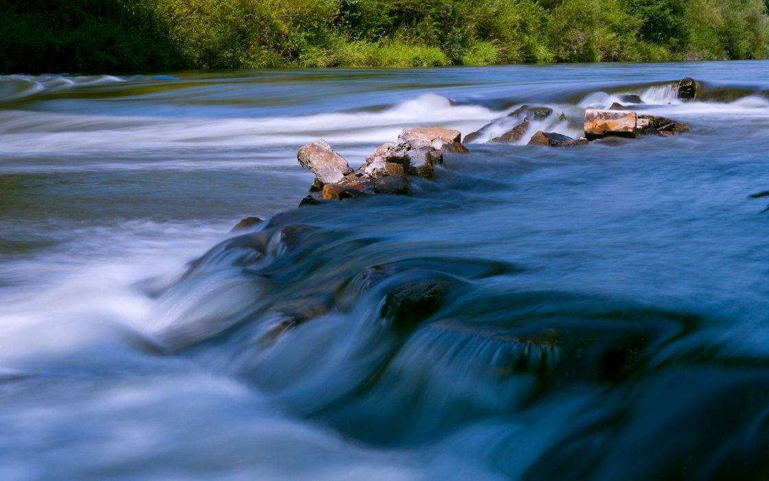 Landscapes rocks rivers wallpaper