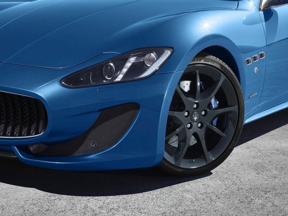 Blue cars italian vehicles maserati granturismo wallpaper