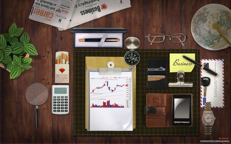 Digital art collage watches wallpaper