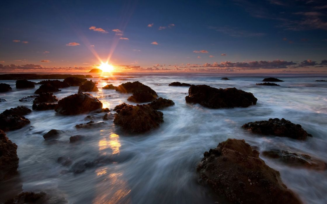 Ocean landscapes nature coast rocks new zealand wallpaper