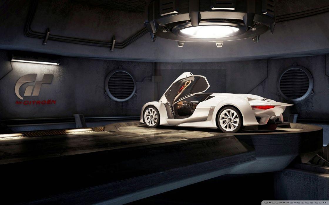 White futuristic cars wallpaper