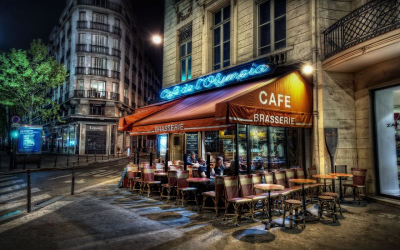Paris streets france hdr photography wallpaper