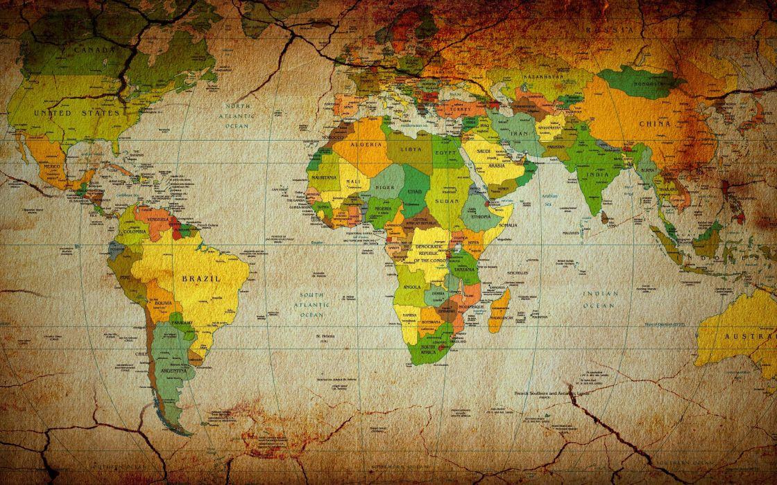 Maps Countries Continents World Map Wallpaper
