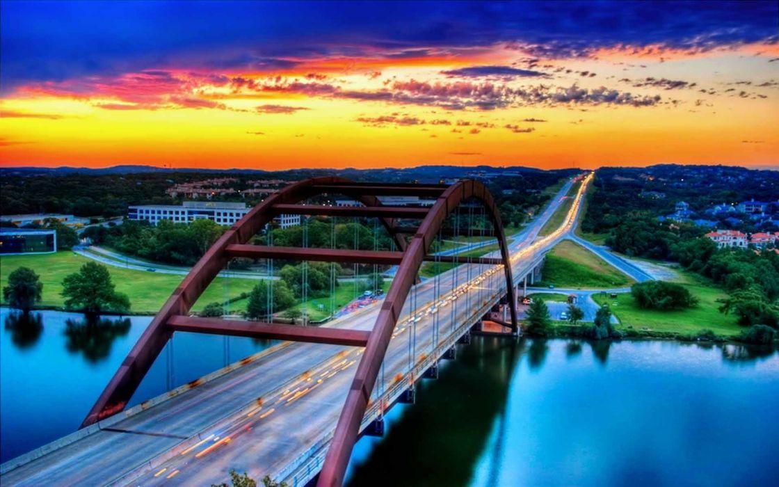 Cityscapes austin bridges wallpaper