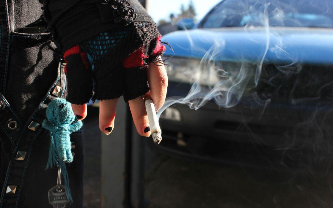 Smoking cars smoke hands cigarettes voodoo key wallpaper
