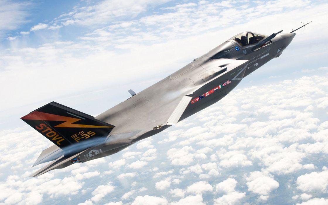 35 Lightning ii skyscapes jet wallpaper