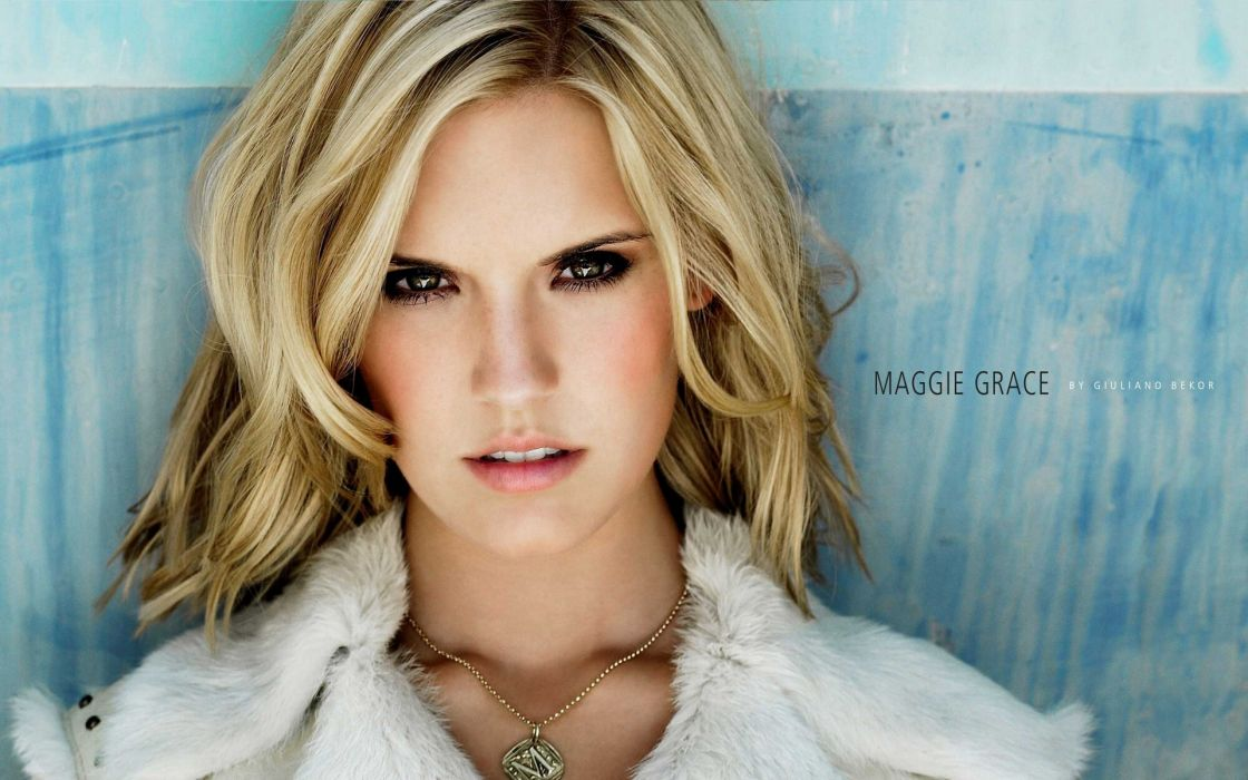 Blondes women eyes actress lips maggie grace faces wallpaper
